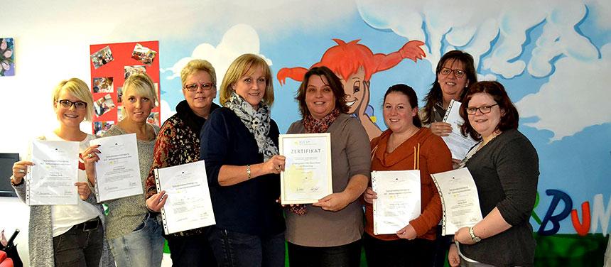 RIT-Zertifizierung der Kindertagesstätte Villa Kunterbunt in Wissen