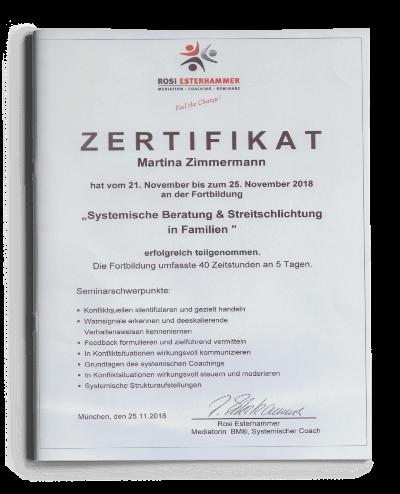 Zertifikat Systemische Beratung