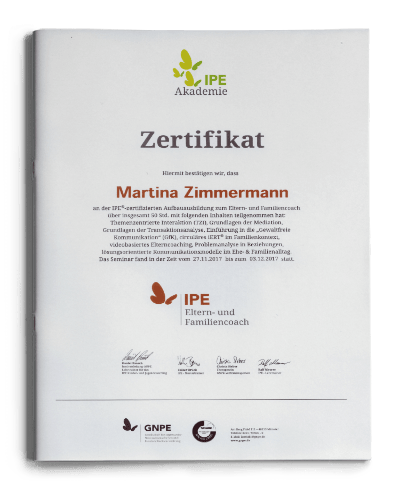 Zertifikat IPE Eltern- und Familiencoach