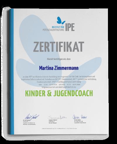 Zertifikat IPE Kinder- und Jugendcoach